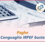 Paghe GB Web 2019: conguaglio IRPEF in busta paga