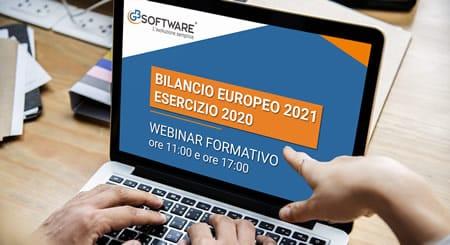 Webinar - Bilancio Europeo 2021 esercizio 2020