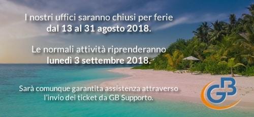 Chiusura degli uffici per ferie estive