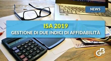 News - ISA 2019: gestione di due Indici di affidabilità fiscale