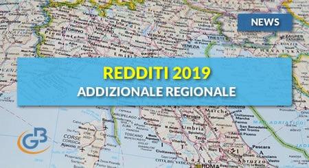 News - Redditi 2019: Addizionale regionale