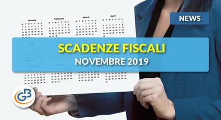 News - Scadenze adempimenti fiscali novembre 2019