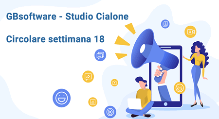 Circolare settimana 18 GBsoftware - Studio Cialone Angiola