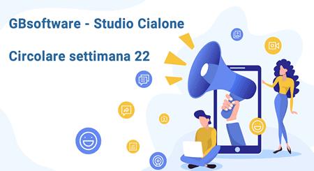Circolare settimana 22 GBsoftware - Studio Cialone Angiola